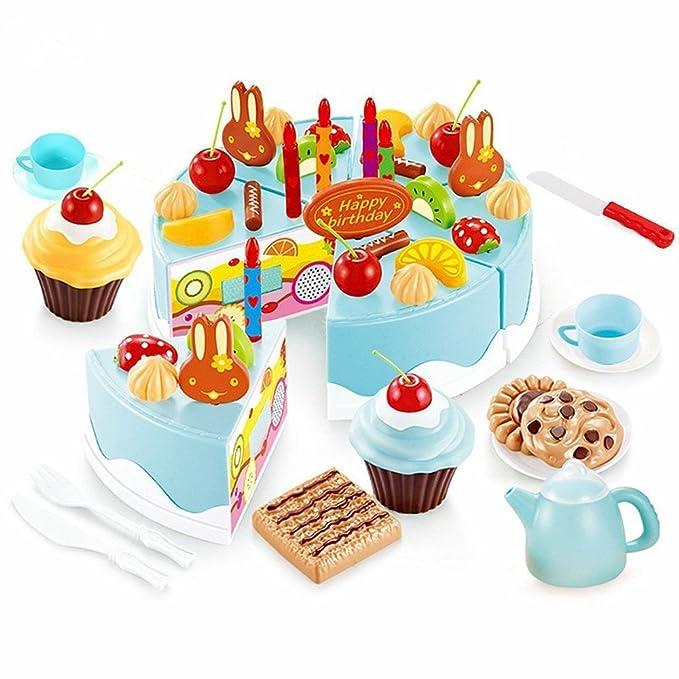 Amazon Birthday Cake Play Food Set Aijiaye 75pcs Plastic