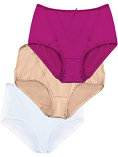 1db363d3fe8 Ilusion 32155 - Women s High Rise Firm Control Panty 3 Pack Multicolored  Lace (Size Medium
