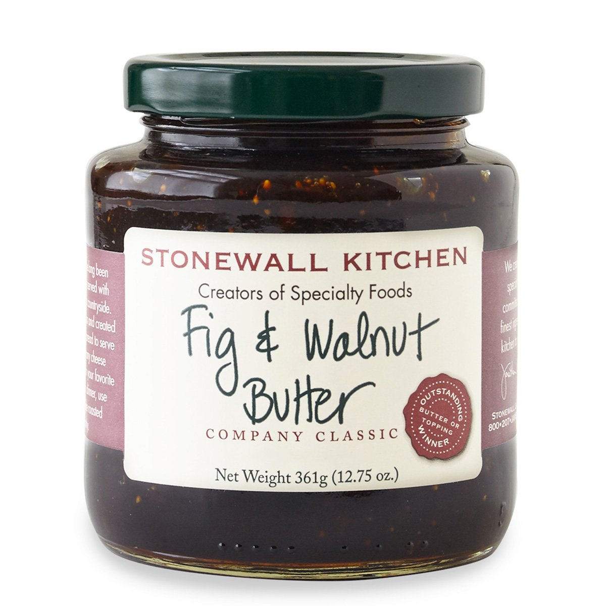 Stonewall Kitchen Butter, Fig and Walnut, 12.75