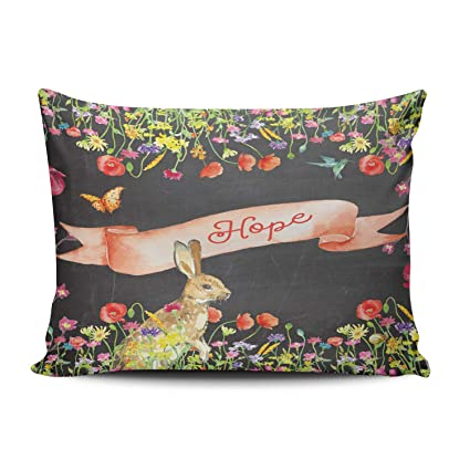 WULIHUA Home Decoration Throw Pillow Covers Colorful Feather Boho Wild and Free Boudoir Custom Sofa Cushion Cover Pillowcase Size 12X16 Inch One Sided Printed Chic Design