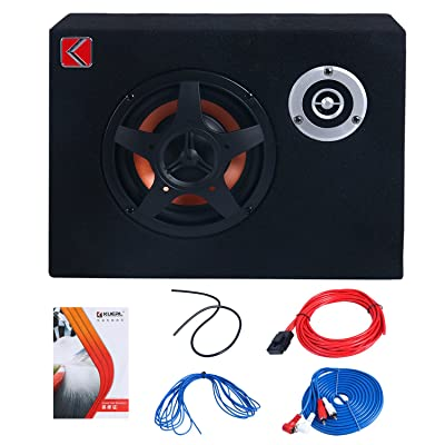 8'' Under-Seat Car Sub Woofer Modified Speaker Stereo Audio Bass Amplifier 4Ω 480W: Car Electronics