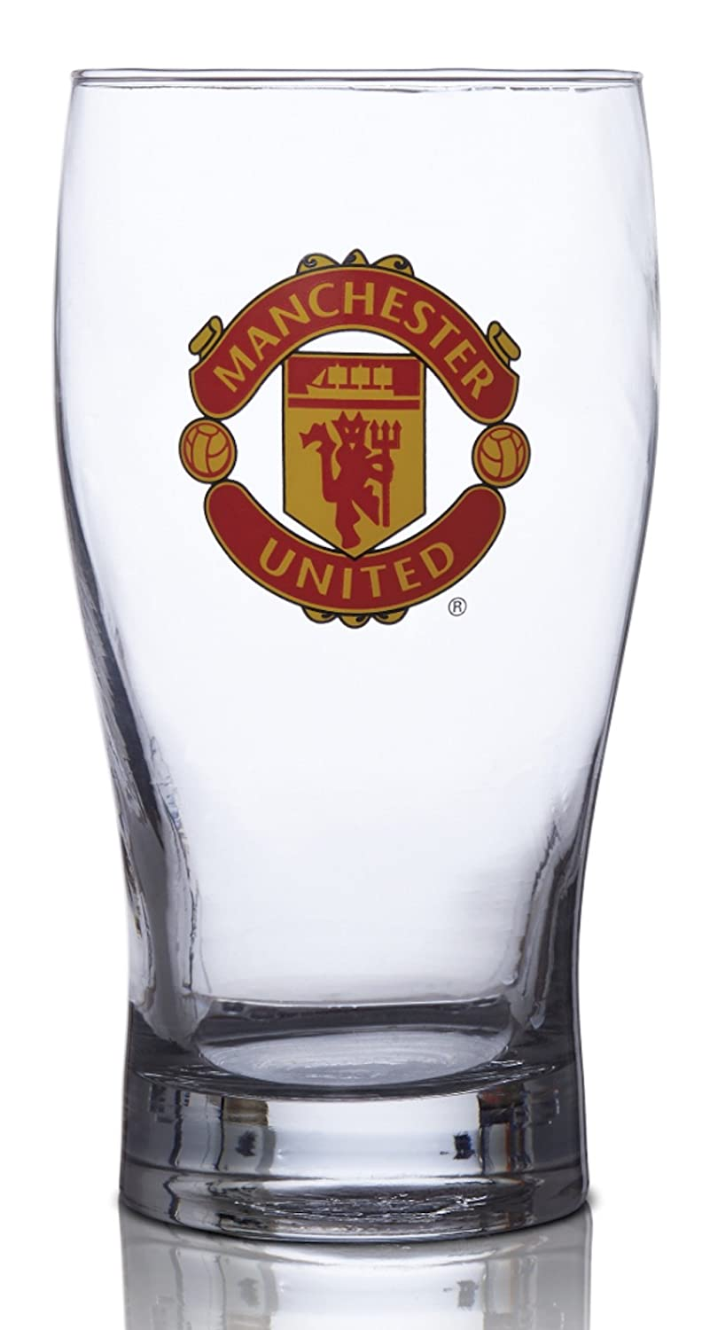 Manchester United FC Pint Glass Great for all Soccer Fans 100% Licensed Product Collector's Design Authentic Imported Beer Glass