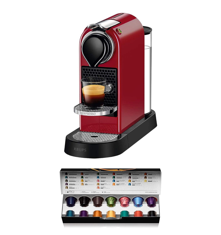 19 bares apagado autom/ático compacta color granate Nespresso Krups Citiz XN7415 Cafetera monodosis de c/ápsulas Nespresso