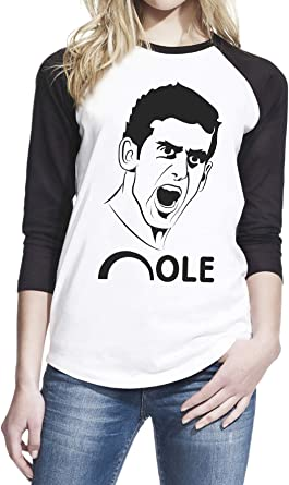 Amazon Com Wearuz Nole Novak Djokovic Tennis Fan Women Baseball T Shirt Clothing