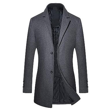 D'hiver Homme Coat Trench Longue Veste Long Manteaux Chaud Mode wC6HAaqnC