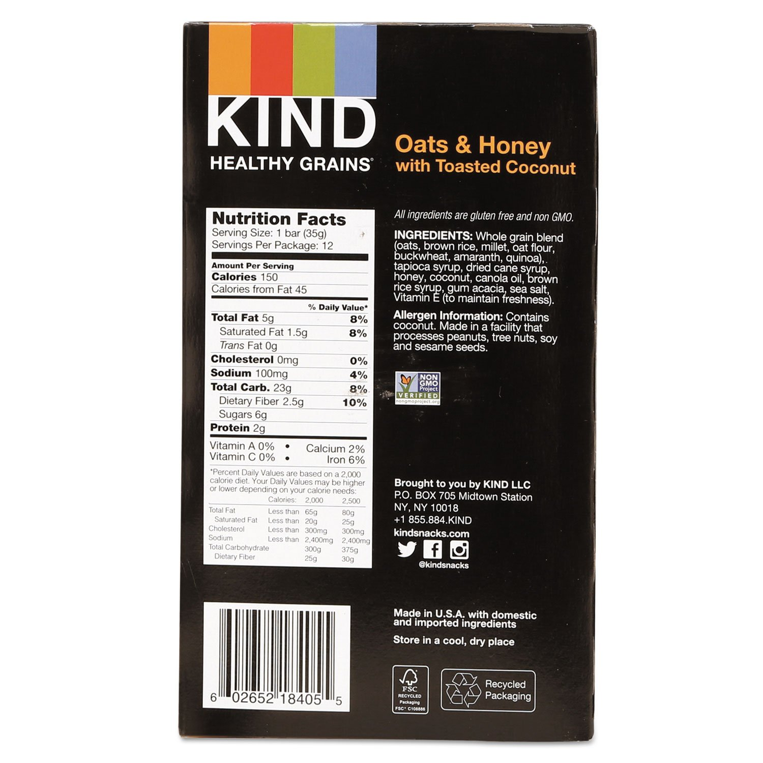 KND18080 - Healthy Grains Bar by KIND