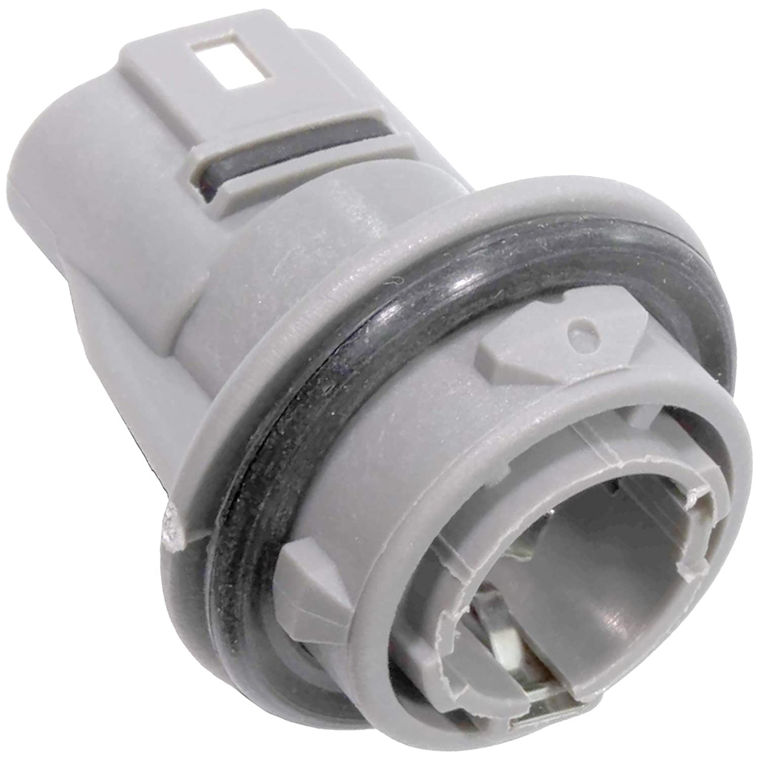 APDTY 133640 Turn Signal Light Bulb Plastic Socket Holder Gray Color on