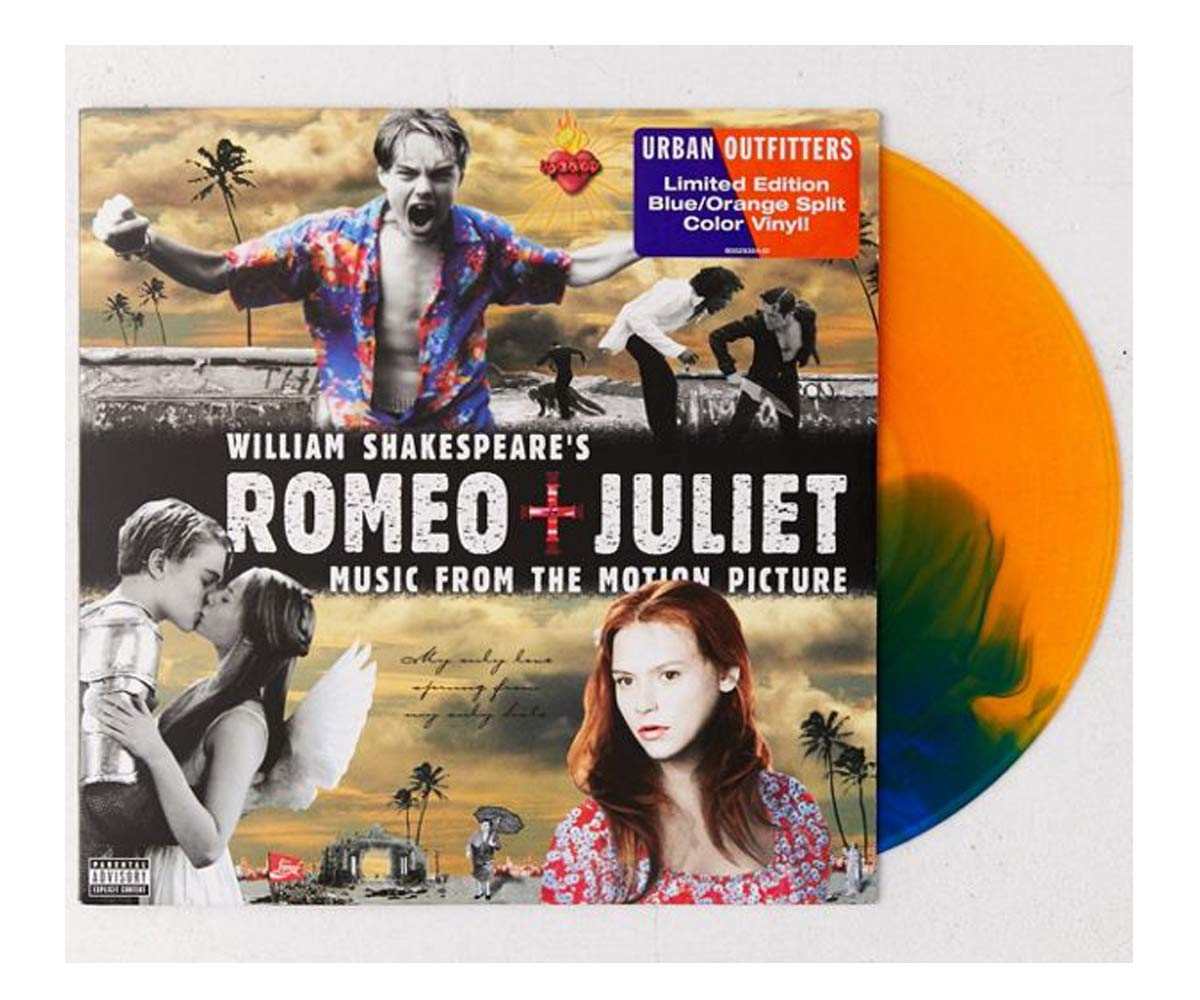 William Shakespeare's Romeo + Juliet Original Motion Picture Soundtrack Limited Orange/Blue LP [VG+NM- Condition] by Capitol Records
