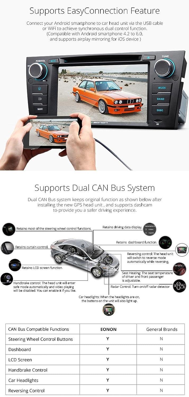 Eonon Ga7165 Android 60 Car Dvd Player Special For Bmw E90 E91 E92 Double Din Wire Diagram E93 2006 2011 Quad Core Marshmallow In Dash Gps Radio Stereo 7 Inch 1 Multimedia