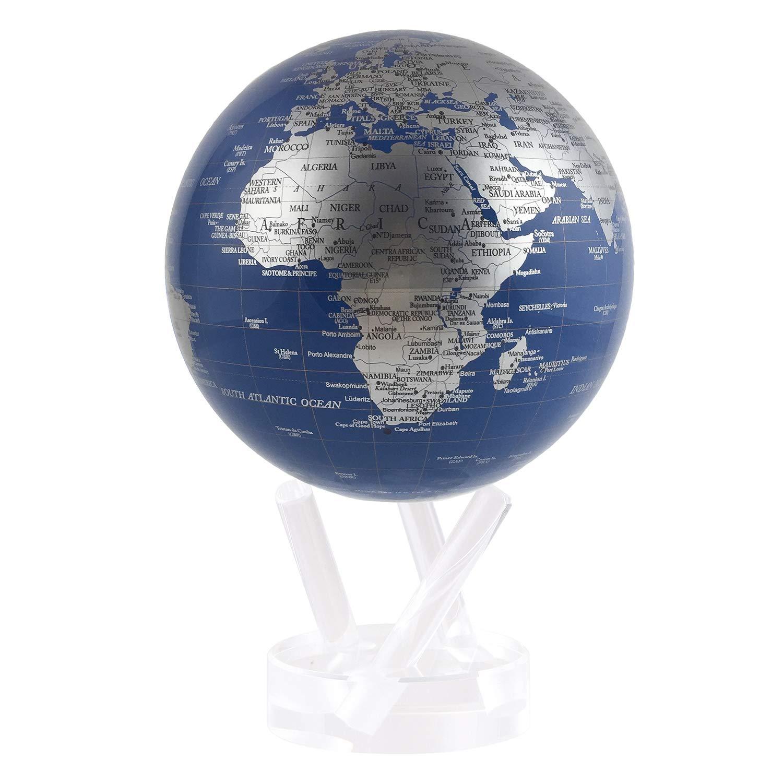 Bleu et argent Mova Globe 11,4cm 4cm MOVA International