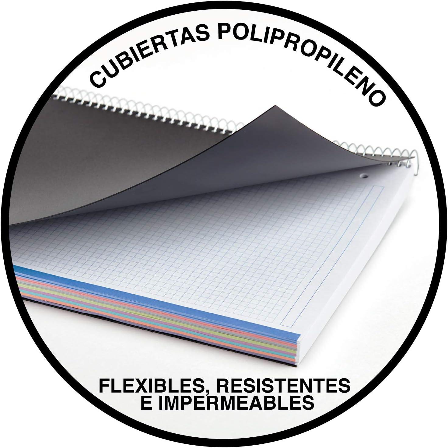 Miquel Rius 42007, Cuaderno con Tapa de Polipropileno, A5, 200 Hojas, Negro: Amazon.es: Oficina y papelería