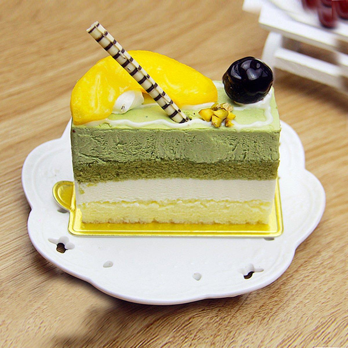 Amazon.com Sealike Golden Cake Parper Base Cake Paper Plates Dessert Paper Base Set of 100 with Stylus Industrial u0026 Scientific & Amazon.com: Sealike Golden Cake Parper Base Cake Paper Plates ...