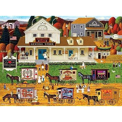Charles Wysocki - Storin' Up - 1000 Piece Jigsaw Puzzle: Toys & Games