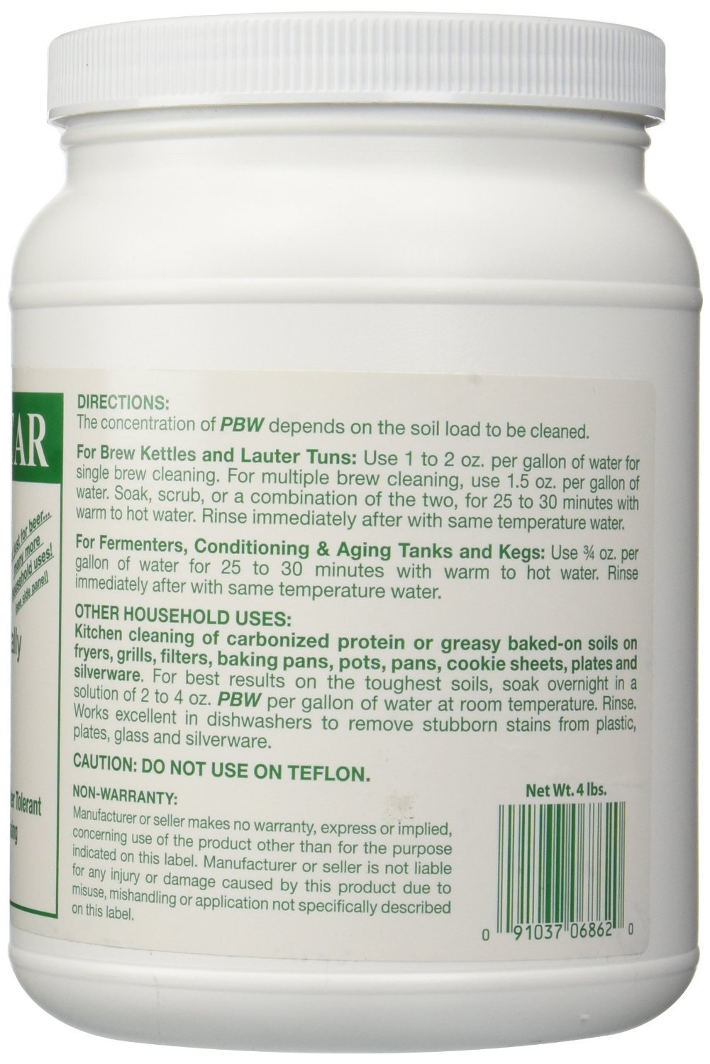 Five Star PBW Cleaner (Powdered Brewery Wash), 4-Pound Jar by Five Star (Image #2)