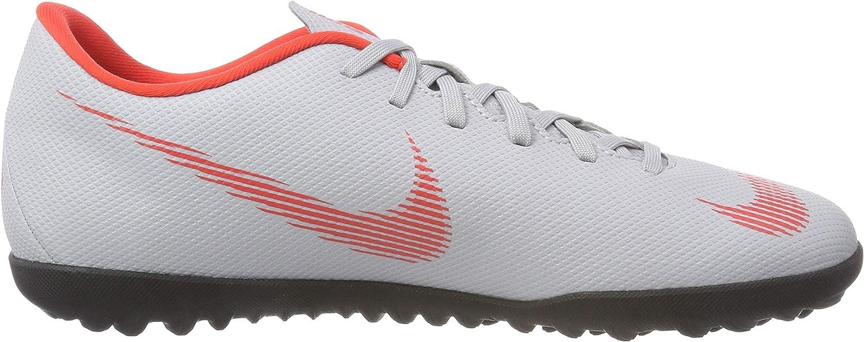 Nike Vapor 12 Club TF, Chaussures de Futsal Homme Multicolore Wolf Grey Lt Crimson Black 001