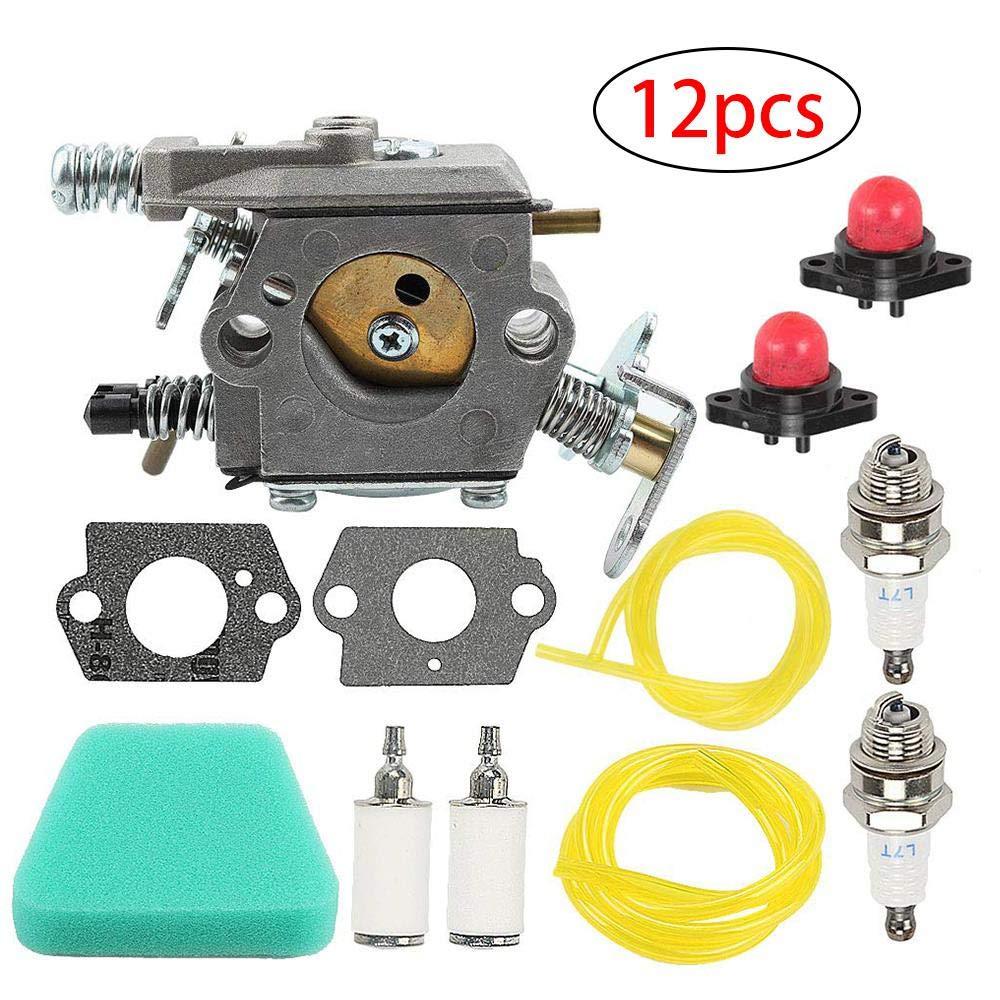 Set of 12 Carb Rebuild Kit Dokfin Carburetor For Poulan Chainsaw 1950 2050 2150 2375 Wild Thing 2375LE WT-891 WT-324 C1U-W8 C1U-W14 545081885 530069703