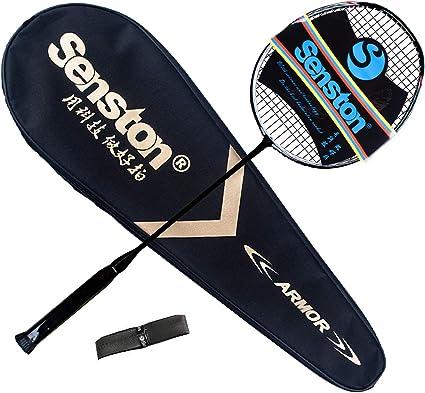 Incluant 1 Sac de Badminton//1 Raquette de Badminton Senston Raquette de Badminton Graphite de Haute qualit/é Badminton Raquette