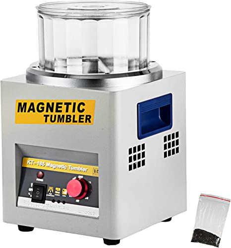 Magnetic Tumbler 130mm//5 Magnetic Grinding and Polishing Machine Speed Adjustable Jewelry Polisher Tumbler for Platinum Gold Silver 110V 2000RPM