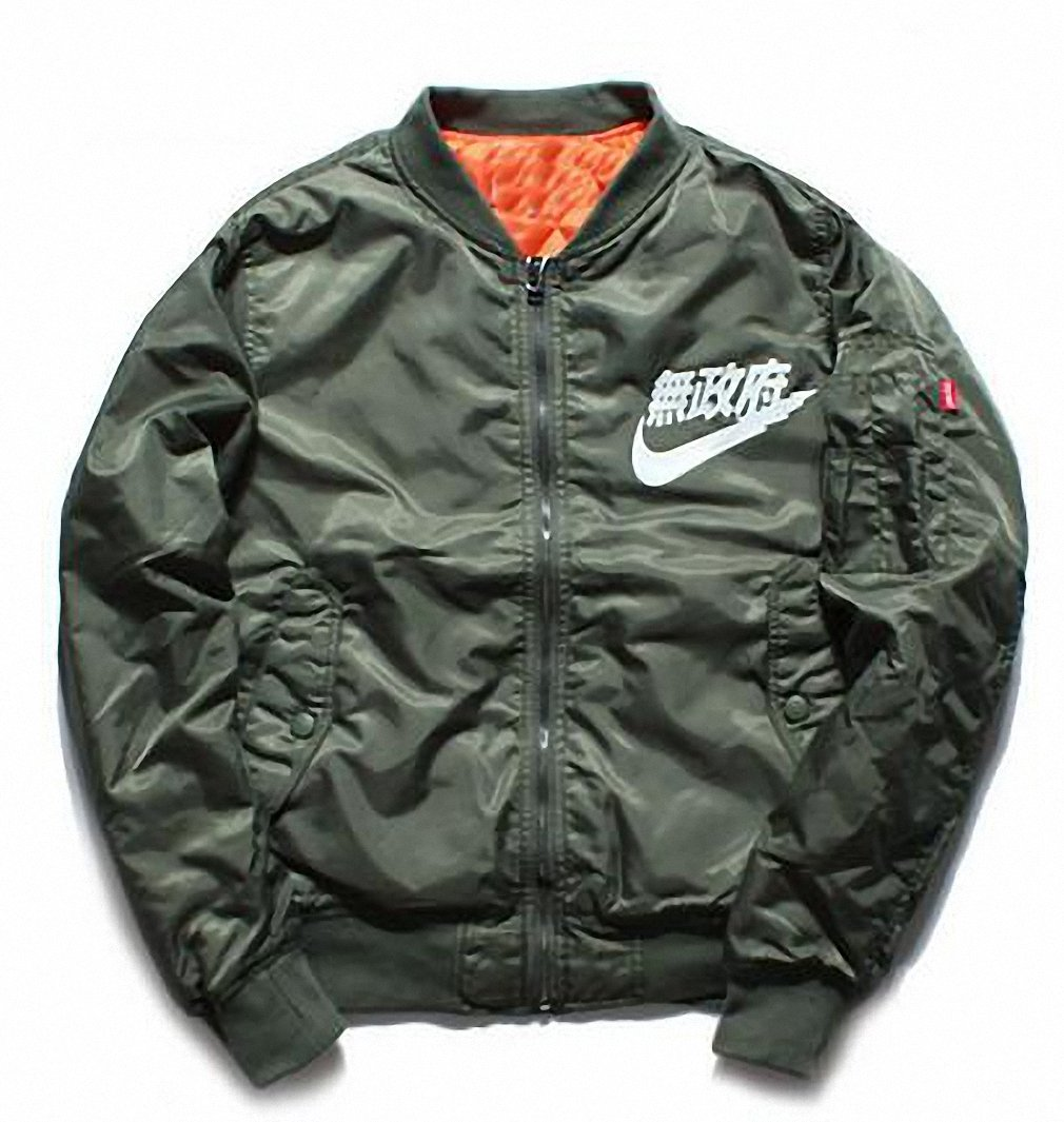 Anarchy Jacket Ma1 Bomber Jackets Autumn Winter Pilot Anarchy Jacket Man Women Waterproof Flight Coat Army Green XL
