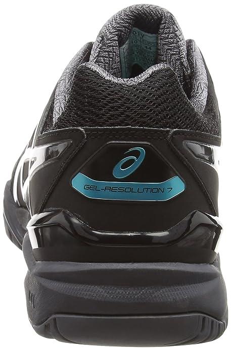 Asics Gel-Resolution 7, Zapatillas de Tenis Hombre, Negro (Black / Dark Grey / Lapis), 40 EU: Amazon.es: Zapatos y complementos