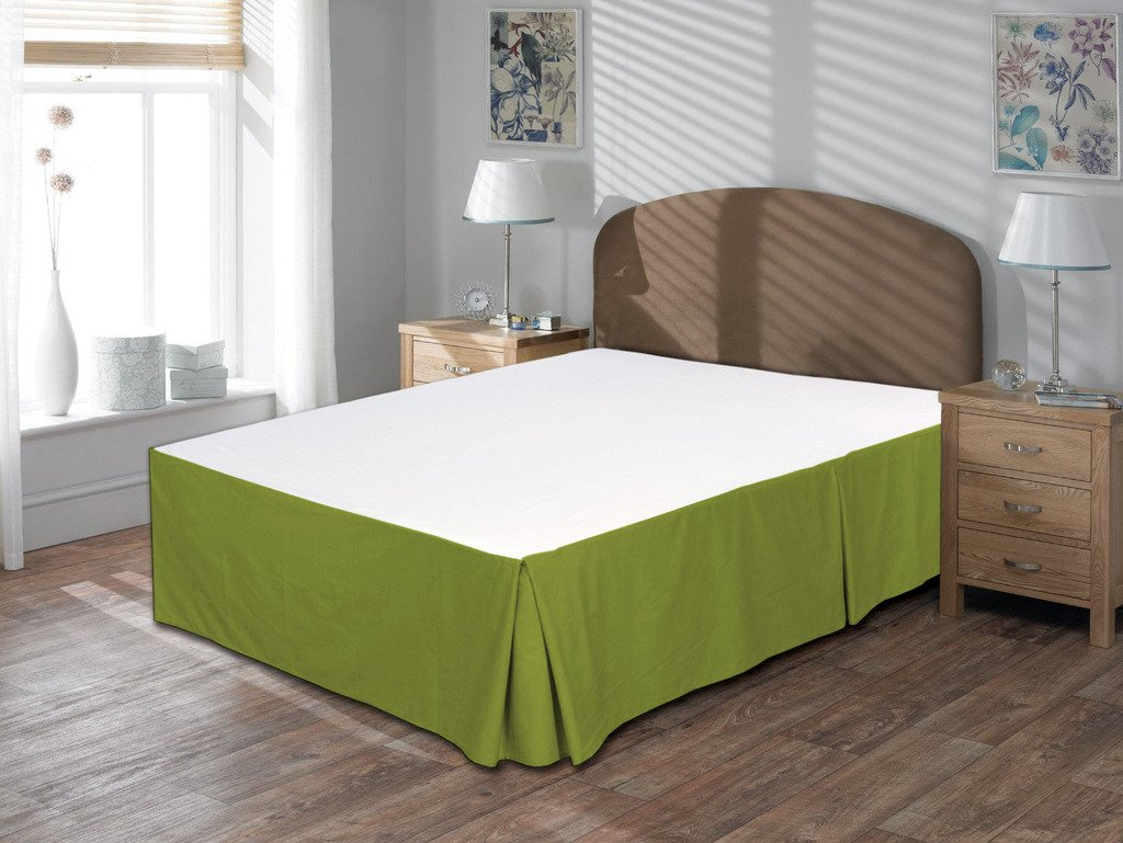 Luxurious Comfort Beddings 800TC Bedskirt 18 Drop length 100/% Egyptian Cotton California King Size Ivory Solid