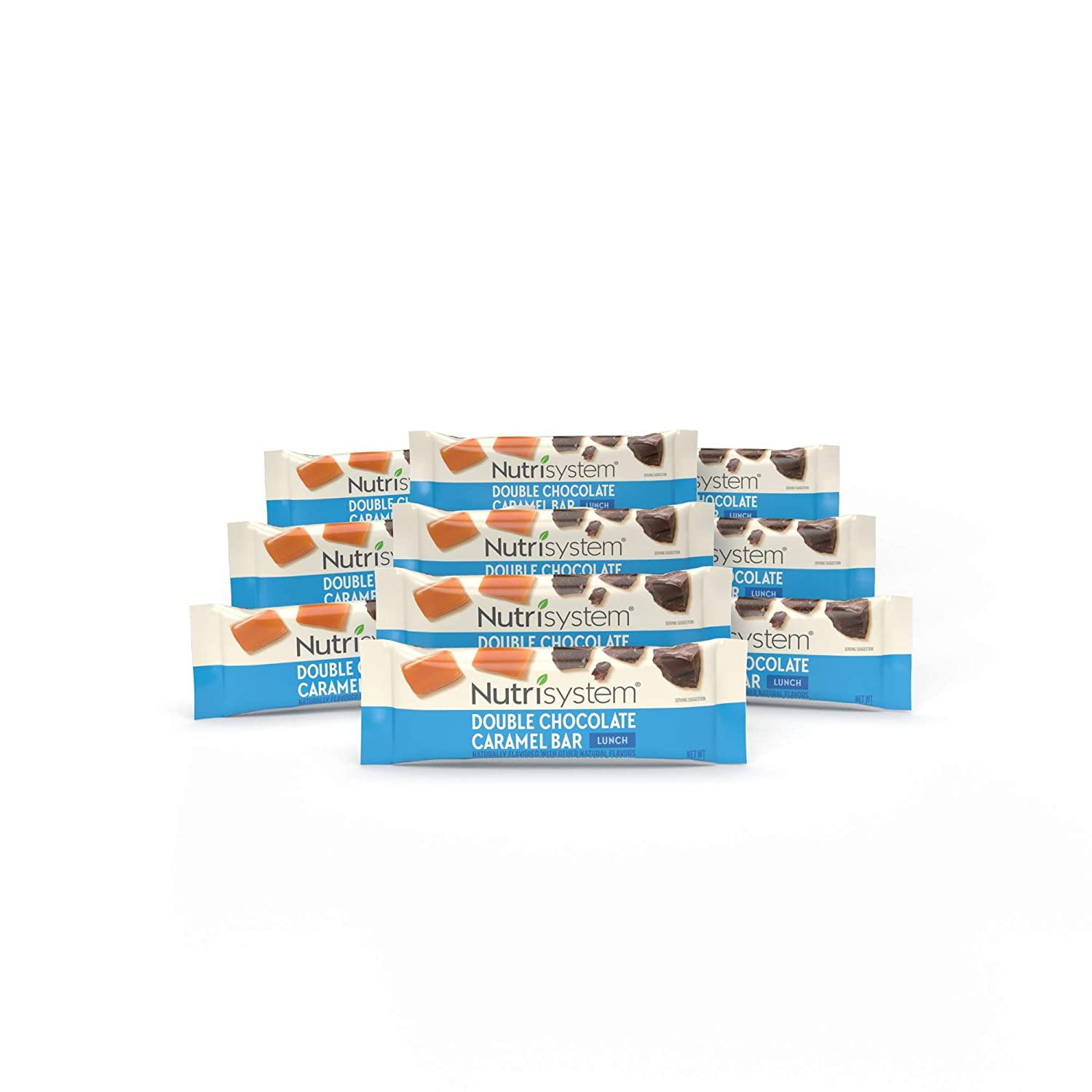 Nutrisystem Double Chocolate Caramel Bars Pack, 10 Count Bars