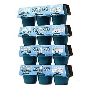 Zee Zees Rock'n Blue Raspberry Applesauce Cups, 4 oz Cups, 24 pack