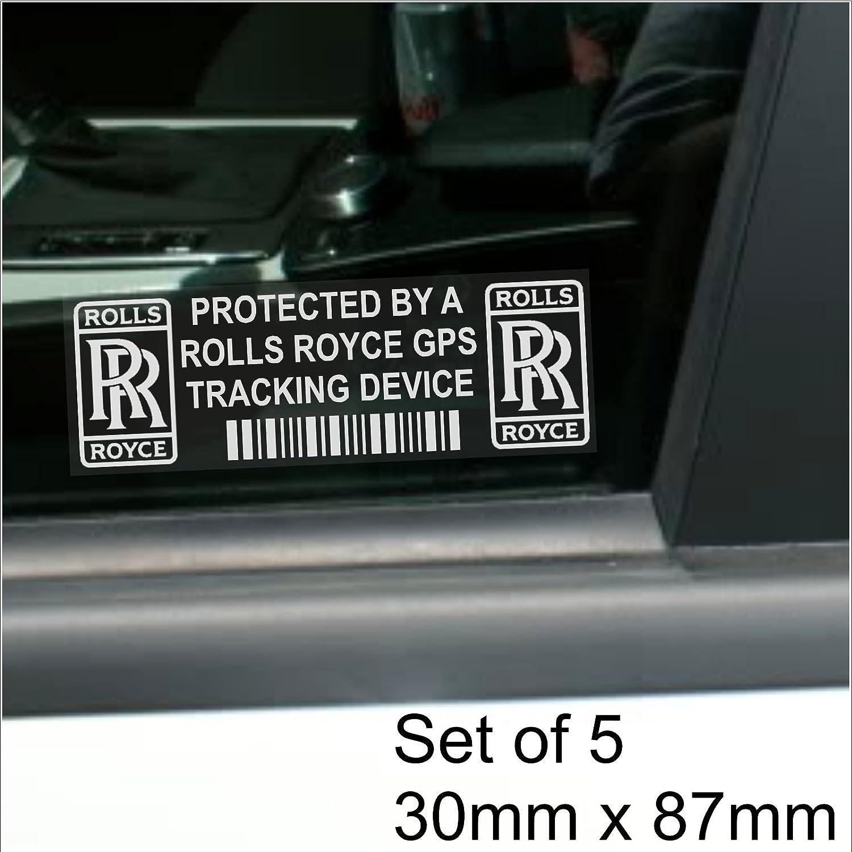 5 X Pprollsroycegps Gps Gerät Sicherheit Fenstertattoo 87 X 30 Mm Phantom Wraith Ghost Auto Van Alarm Tracker Auto
