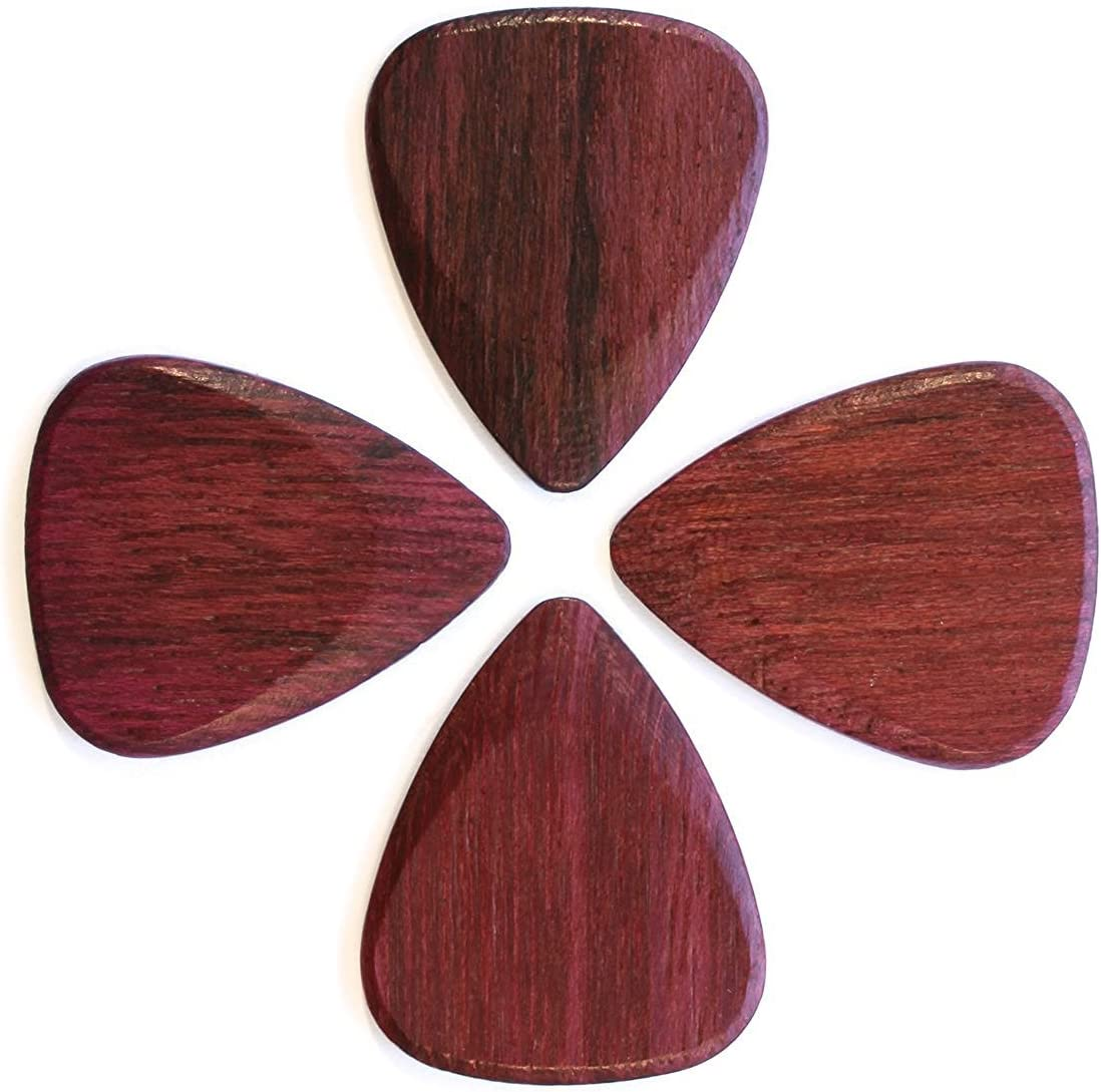 Timber Tones Luxury Wood Guitar Pick Single Pick Bloodwood