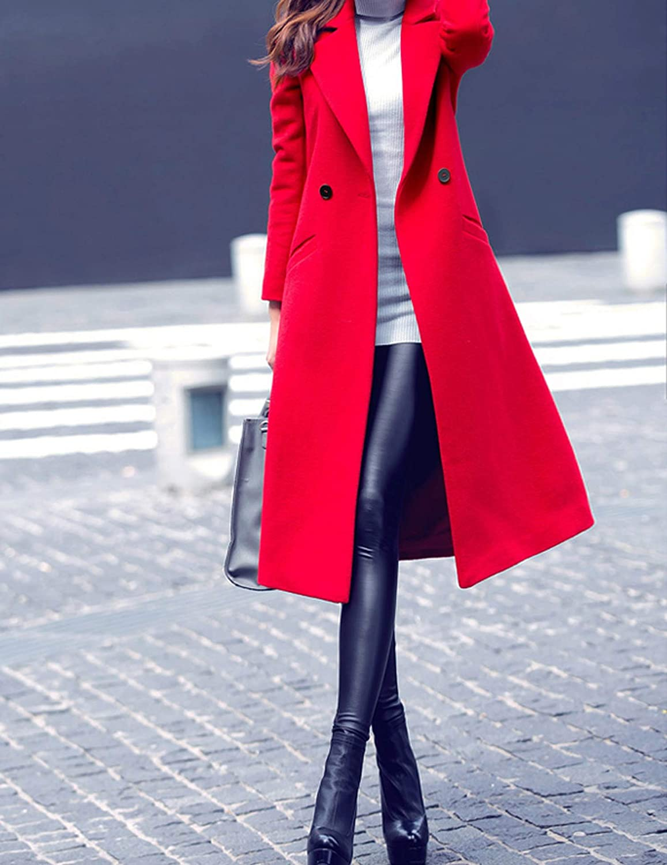 Ultra Long Elegant Women Woolen Coats Jackets Trendy Clothing Double Breasted Slim Overcoat