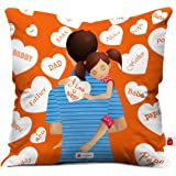 Indigifts Micro Satin and Fibre Cushion Cover with Filler (12x12-inch, White)