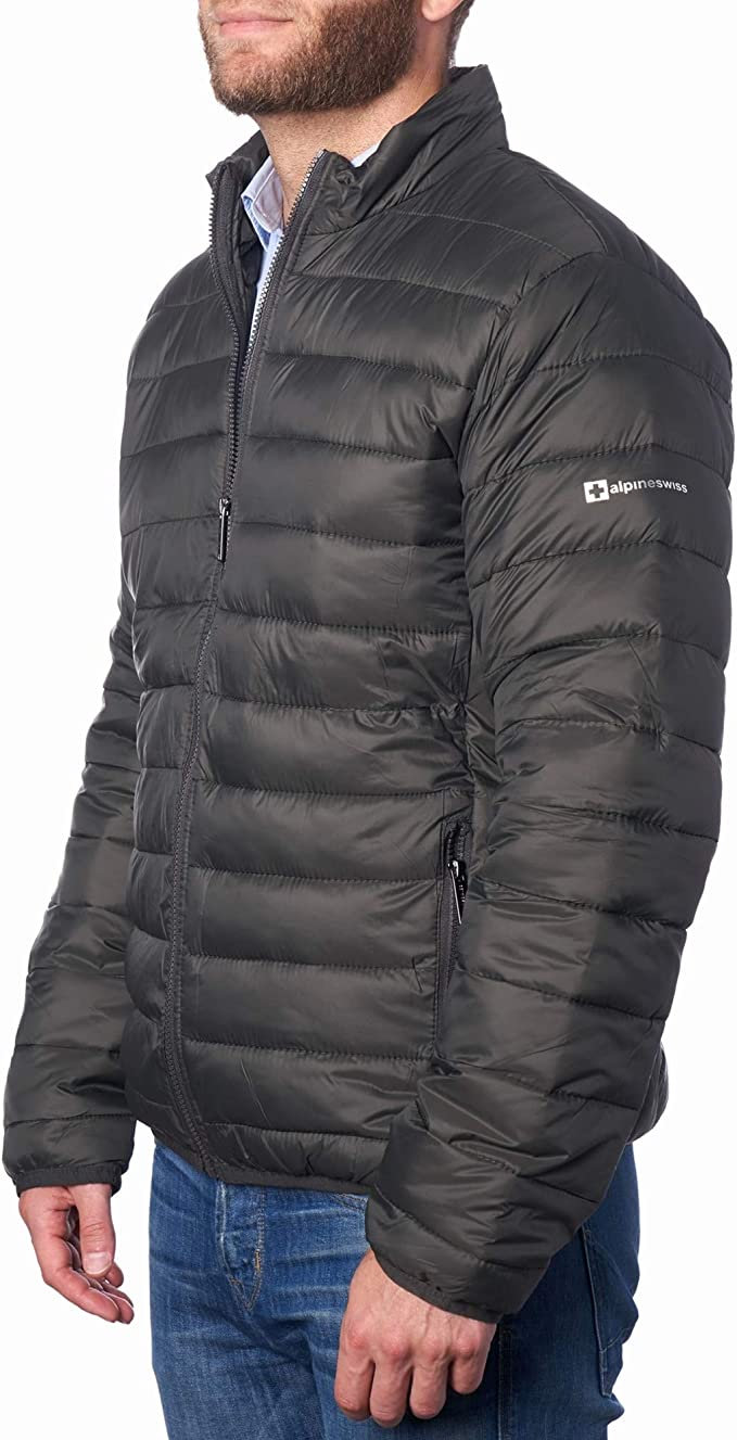 Alpine Swiss Niko Down Alternative Jacket Puffer Coat