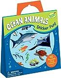 Peaceable Kingdom Sticker Fun! Ocean Animals Reusable Sticker Tote
