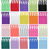 Habibee Elastic Hair Ties No Crease Ouchless Ponytail Holders Hair Bands for Women Girls and Kids (Hair Ties 100pcs)