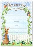 Peter Rabbit Party LARGE Invitations - 10 Invitations 10 Envelopes - Baby Shower Invitations - Birthday Invitations