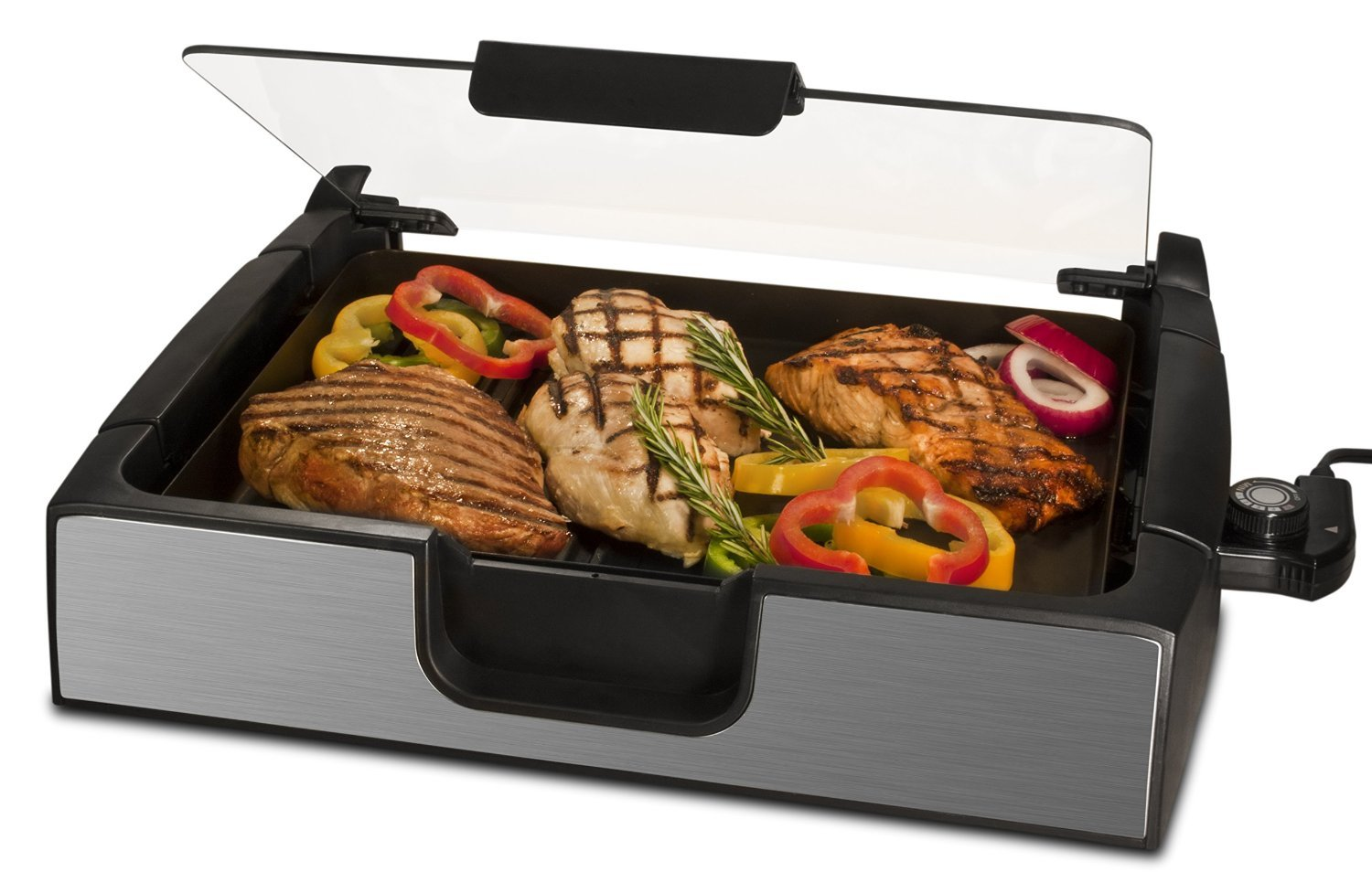 Smart Planet SIG‐4 Napa Valley Gourmet Premium Smokeless Stainless Steel Grill, Silver