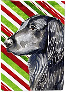 Caroline's Treasures LH9231GF Flat Coated Retriever Candy Cane Holiday Christmas Flag Garden Size, Small, Multicolor