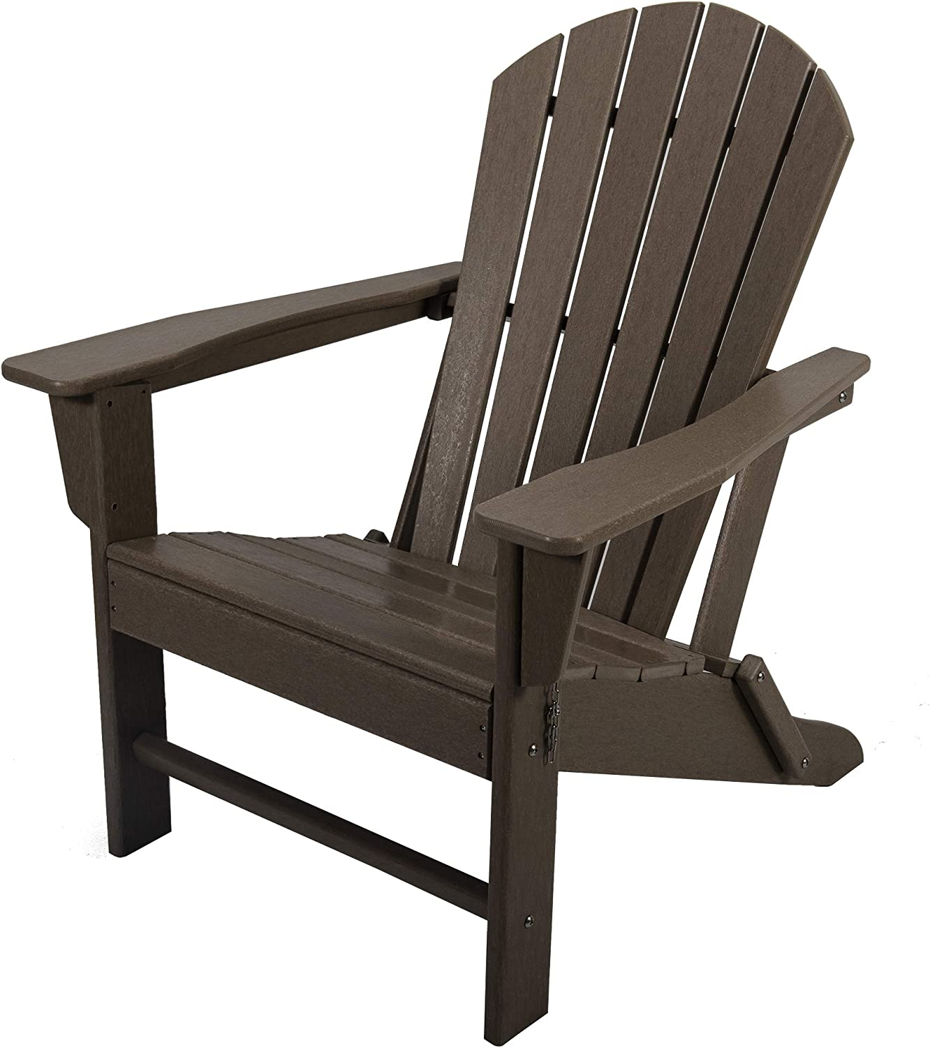 AsterOutdoor Folding Plastic Adirondack Classic Outdoor Composite Chair Design-Easy Maintenance & Weather Resistant for Patio Deck Garden, Backyard, Beach, Pool and Fire Pit Seating, Brown