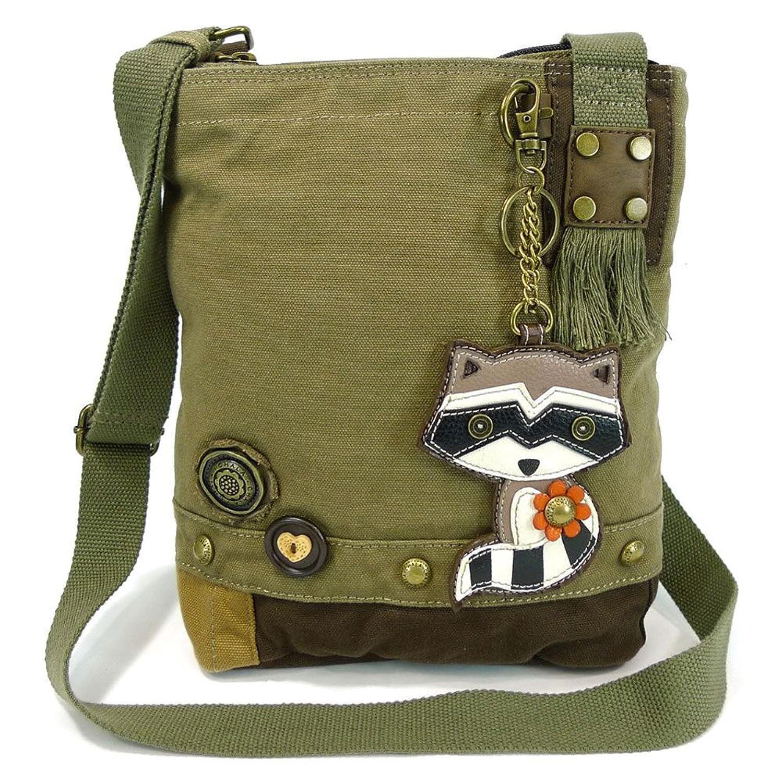 Patch Crossbody Bag-Raccoon, 10 x 4 x 10.5 in