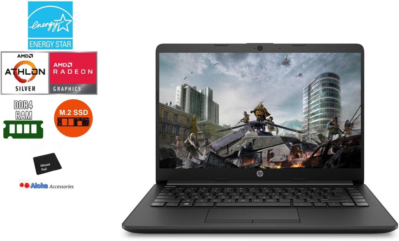 Newest HP Pavilion 14 WLED Backlit Laptop Computer AMD Athlon Silver 3050U up to 3.2GHz Processor 8GB RAM, 128GB SSD AMD Radeon Graphics, Built-in Webcam, Windows 10 Home S, Aloha Bundle