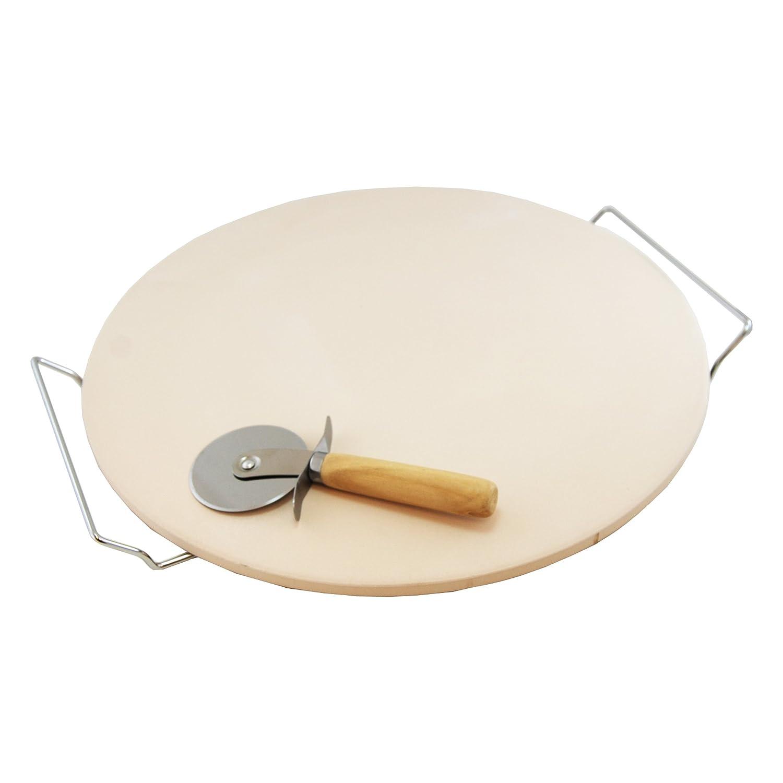 Home Innovations 15-inch Ceramic Pizza Stone 3 Piece Set H-03243
