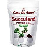 Casa De Amor Succulents Potting Soil 100% Organic Special Research Based Formula for All Succulent Plants in 2 Kg