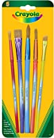 Crayola 5 Assorted Premium Paint Brushes, School, Craft, Painting and Art Supplies, Kids, Ages 3,4, 5, 6 and Up, Holiday Toys, Stocking Stuffers, Arts and Crafts