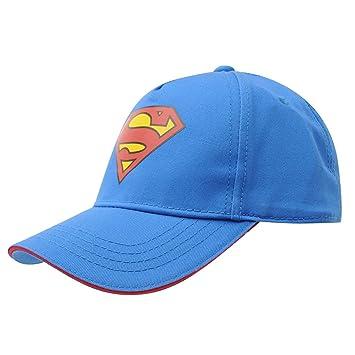 DC Comics Superman – Gorra de béisbol gorro de color rojo y azul ...