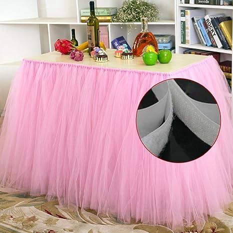 Amazon.com: sundlight elegante mesa de tul faldas para Boda ...