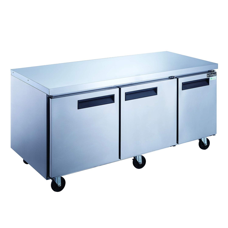 Dukers DUC72R 18.9 cu. ft. 3-Door Undercounter Commercial Refrigerator in Stainless Steel