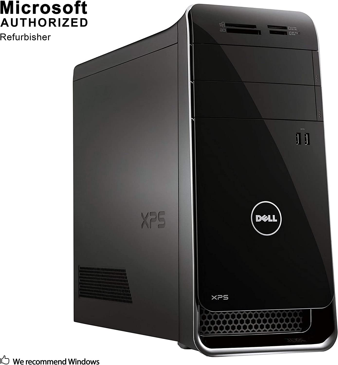 Dell XPS 8500 Tower Desktop PC, Intel Quad Core i5-3450 up to 3.5GHz, 16G DDR3, 256G SSD, Windows 10 Pro 64 Bit-Multi-Language Supports English/Spanish/French(Renewed)