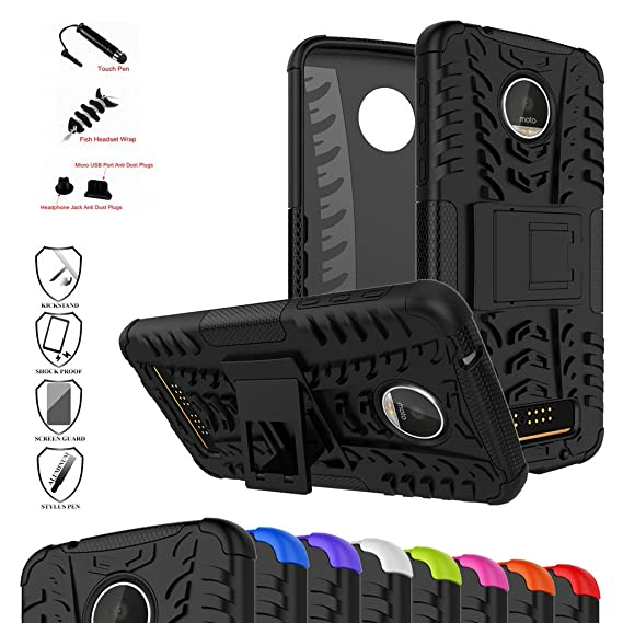 Moto Z Play Case,Mama Mouth Shockproof Heavy Duty Combo Hybrid Rugged Dual  Layer Grip Cover with Kickstand for Motorola Moto Z Play Droid (2016)(with