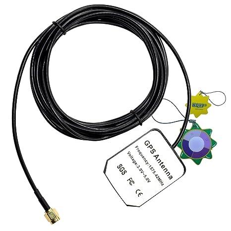 HQRP antena externa SMA GPS para Alpine Blackbird PMD-B100 + HQRP medidor del sol
