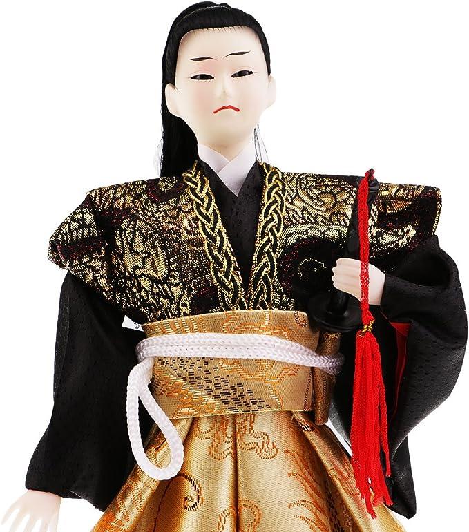 # 1 FITYLE Guerrier Samoura/ï Poup/ée Kokeshi Japonais D/écoration Maison